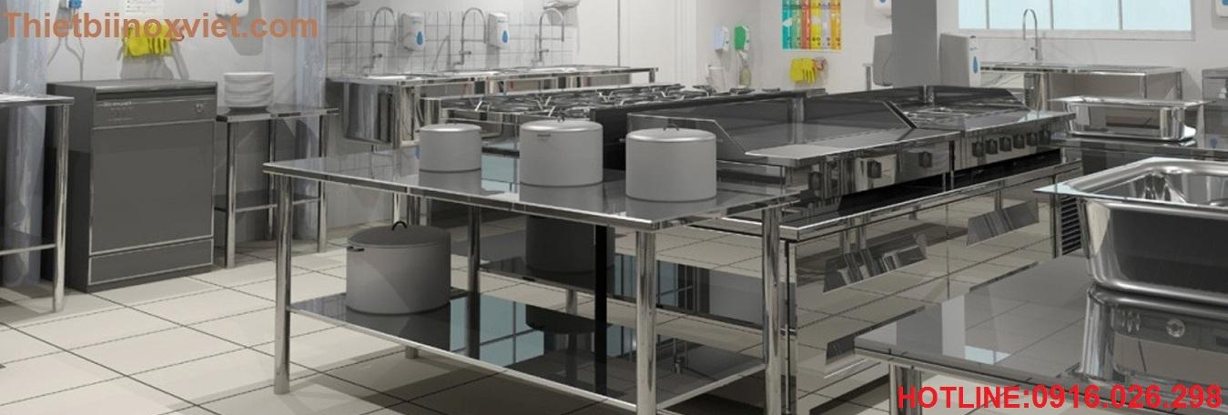 Thiết bị bếp ăn canteen nhà máy, bếp nhà hàng khách sạn, thiết bị inox bếp công nghiệp