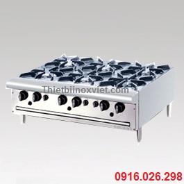 Bếp âu 6, thiết bị bếp âu nhà hàng, bếp 6 họng đốt