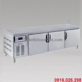 Tủ bàn lạnh 3 cánh inox | Tủ bàn mát 3 cánh inox | Tủ lạnh bàn thớt 3 cánh inox