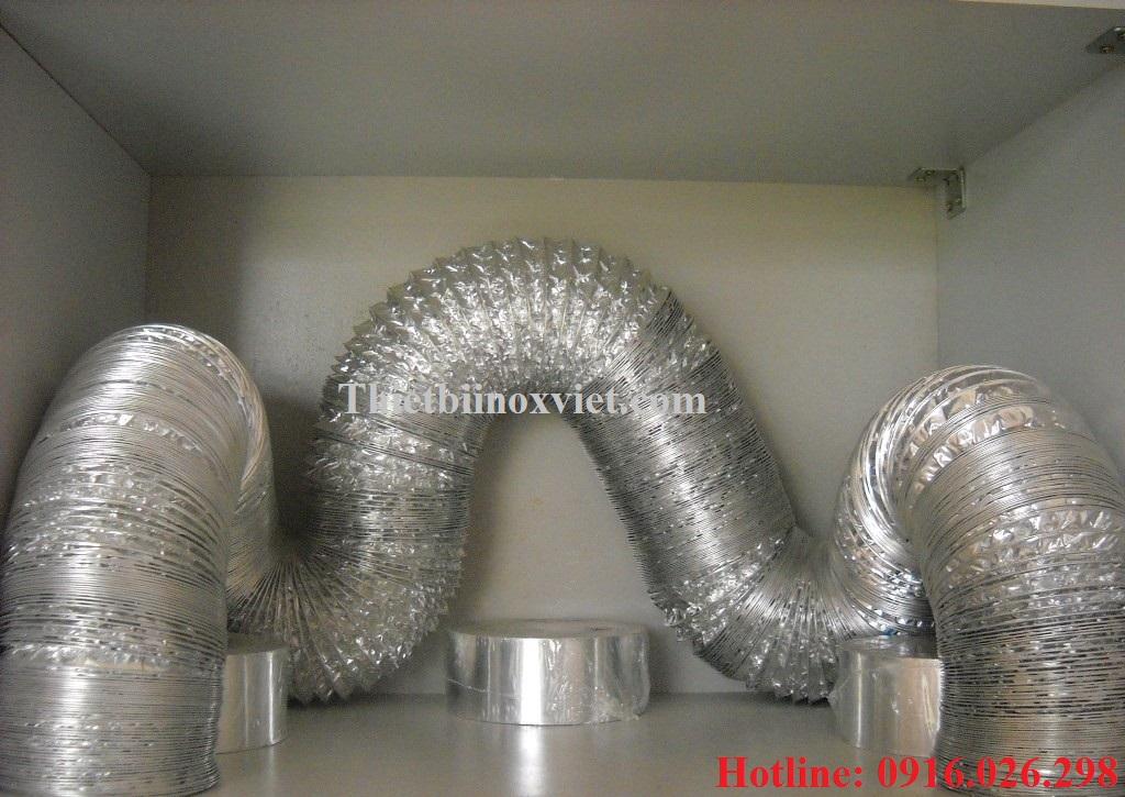 Ống bạc mền hút mùi bếp nướng, giá ống bạc mền d100 tại hà nội