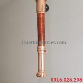 Ống hút khói bếp lẩu nướng không khói – KT : Dài 1.4m x phi 125mm – KT kéo dài tối đa 2.3m – KT khoét lỗ ống: phi 12cm – Chụp được làm bằng hợp kim màu đồng – Bảo hàng: 12 tháng