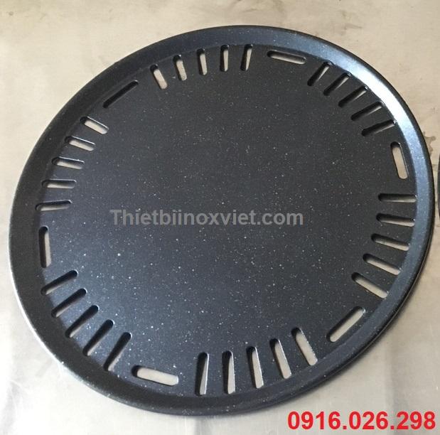 Vỉ gang bếp lẩu nướng không khói nhà hàng mặt chơn chống dính