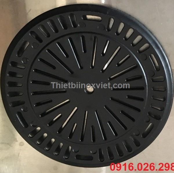 mặt sau vỉ nướng gang chống dính bếp lẩu nướng không khói