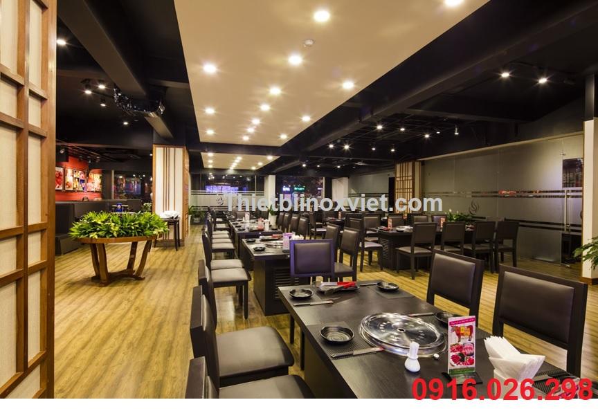 Không gian nhà hàng lẩu nướng không khói, nhà hàng nướng bbq