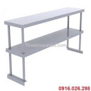 Giá phẳng 2 tầng trên bàn | Giá inox trên bàn hai tầng