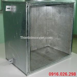 Hộp bọc quạt hút mùi bếp công nghiệp, hộp bảo ôn chống ồn quạt hút mùi bếp nhà hàng