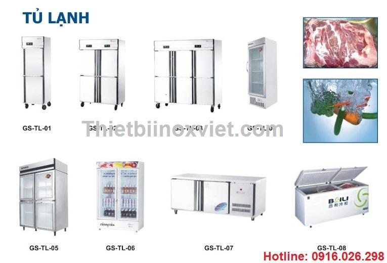 Thiết bị bảo quản thực phẩm, thiết bị lạnh công nghiệp, tủ đông, tủ mát công nghiệp