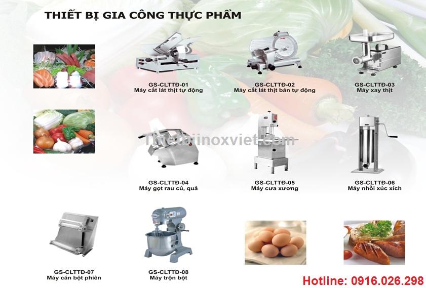 Thiết bị gia công thực phẩm, máy cắt lát thịt, máy xay thịt bếp công nghiệp, bếp nhà hàng