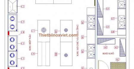 Bản thiết kế khu bếp ăn công nghiệp, khu bếp ăn công nhân nhà máy