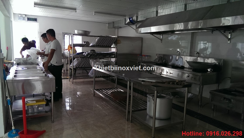 Tổng quan khu bếp nấu nhà máy yamashita