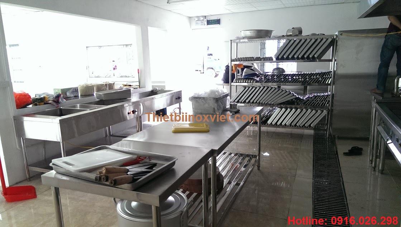 Khu soạn và ra đồ , khu soạn chia bếp ăn công nghiệp