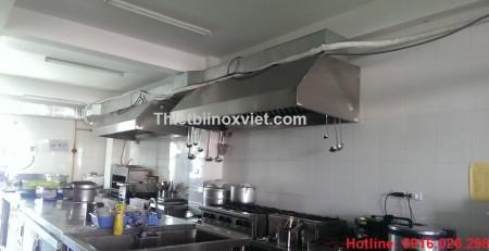 Hệ thống hút mùi bếp nhà hàng - chụp hút mùi inox bếp công nghiệp