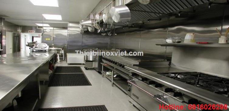 Khu bếp ăn nhà hàng, thiết bị inox bếp nhà hàng, bếp ăn công nghiệp