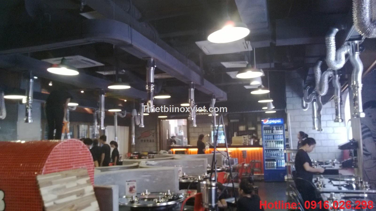 Hút mùi nhà hàng lẩu nướng không khói