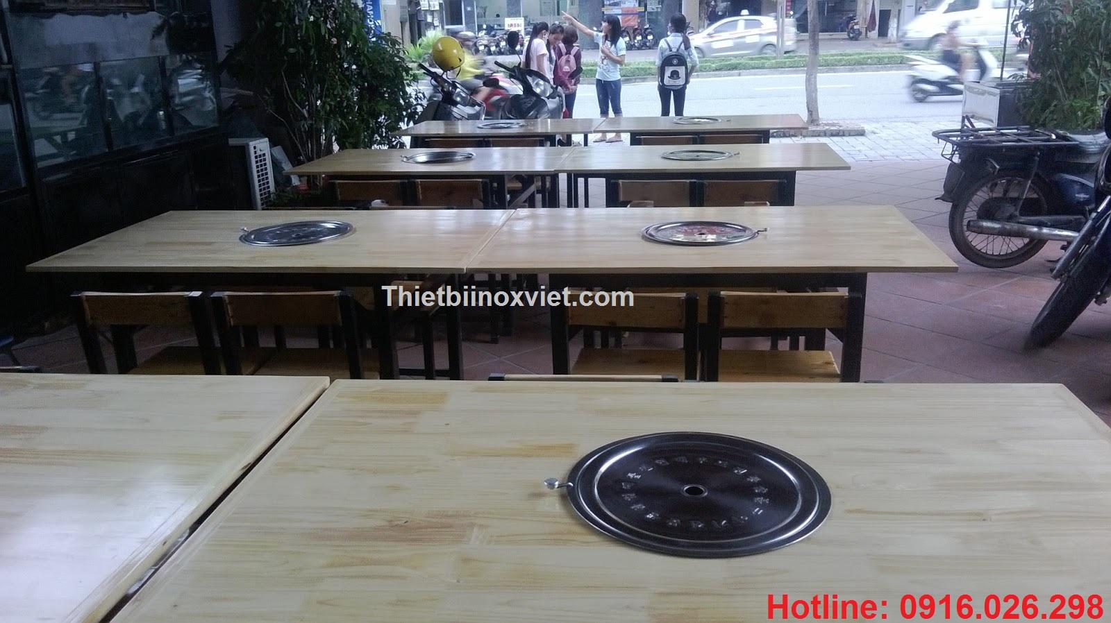 Hút mùi tại bàn kiểu nhật, hút mùi bếp nướng không khói nhà hàng nhật bản