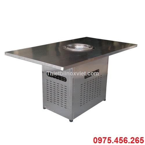 Bàn bếp nướng không khói bằng inox, Bếp nướng không khói nhà hàng kiểu nhật bản, Giá bán bếp nướng không khói dùng than hoa