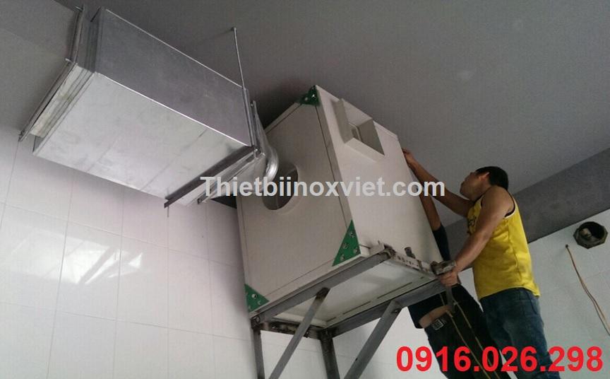 Thi công lắp đặt quạt hút mùi, hộp bọc quạt, hộp tiêu âm giảm ồn cho quạt hút mùi