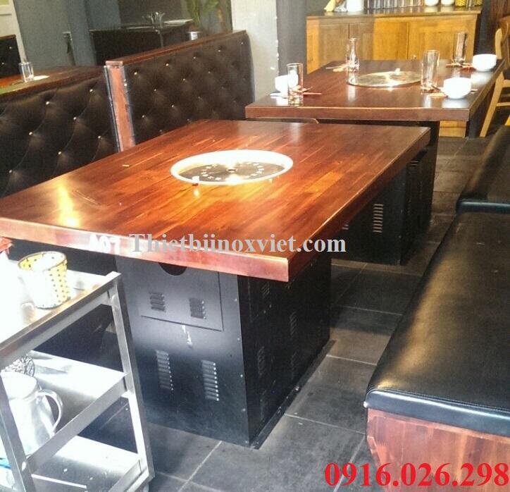 Chân bàn bếp nướng không khói nhà hàng