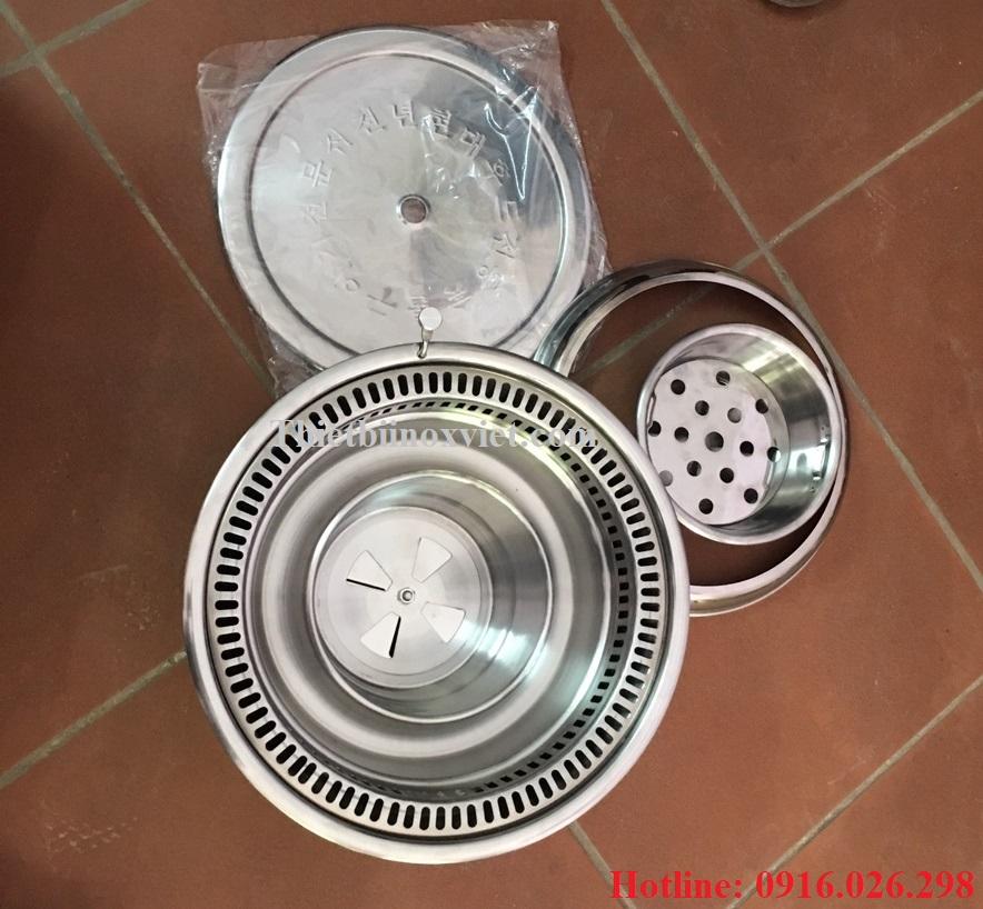 Phụ kiện bếp nướng than hoa không khói tại bàn hút âm