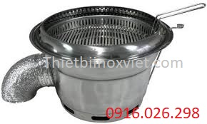 Bếp nướng than hoa âm bàn hút dưới
