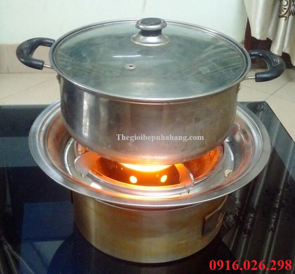 Bếp nướng than hoa âm bàn ngoài trời dùng ăn lẩu tiện dụng