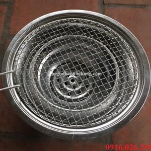 Bếp nướng than hoa âm bàn kèm vỉ nướng inox 304 chuyên dụng