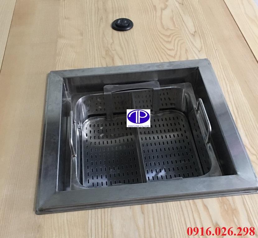 Mặt bếp lẩu thang máy, nồi lẩu tự nâng nhà hàng có nút khiển lên xuống