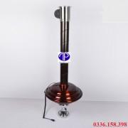 ống hút khói bếp nướng màu nâu cafe kèm chao đèn