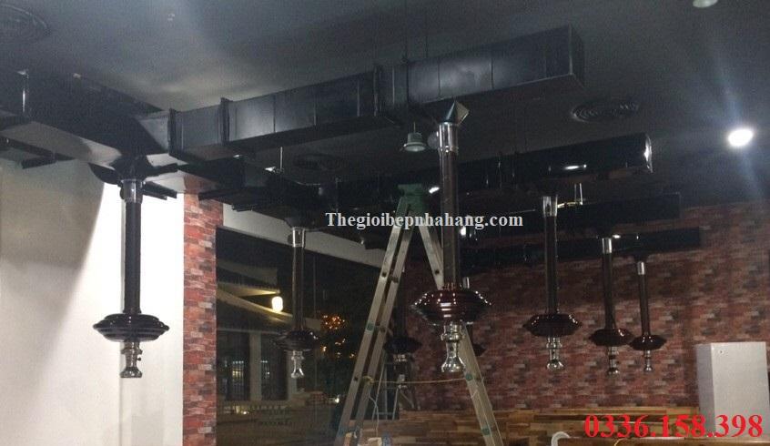 Ảnh công trình nhà hàng lẩu nướng không khói tại bàn
