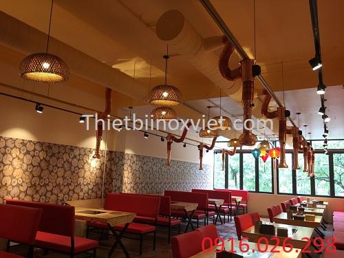 Mô hình nhà hàng lẩu nướng than hoa không khóiMô hình nhà hàng lẩu nướng than hoa không khói