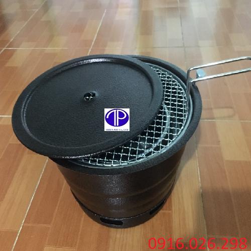Bếp nướng than hoa âm bàn vỏ sắt