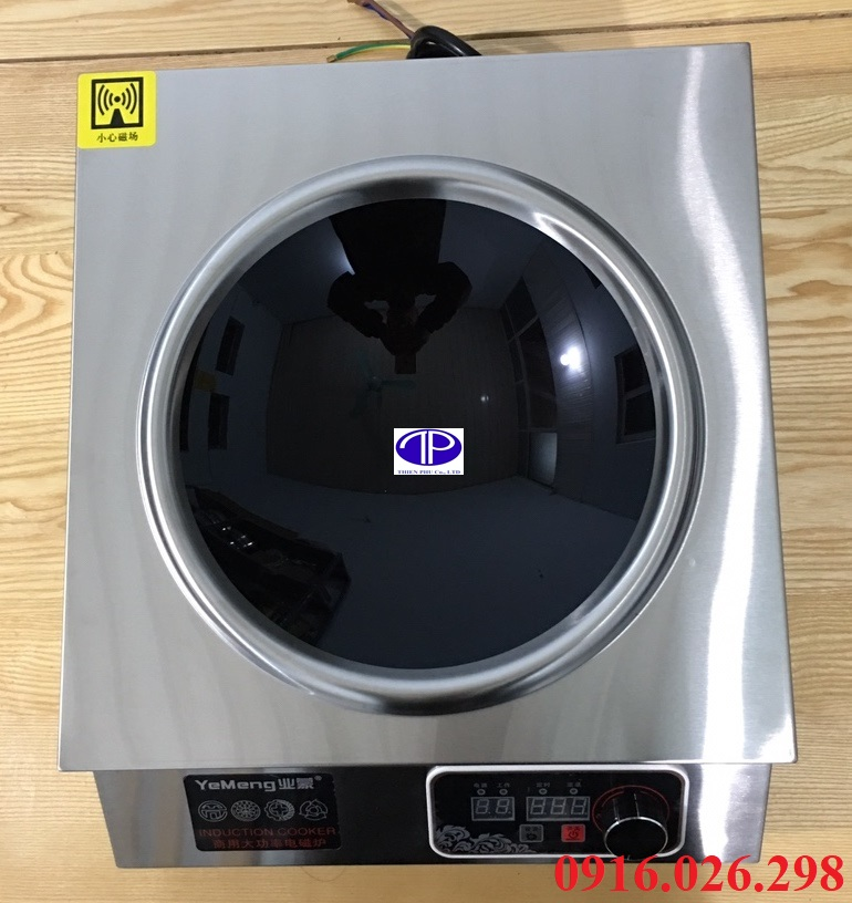 Mặt bếp từ công nghiệp loại lõm công suất 5.5 kw