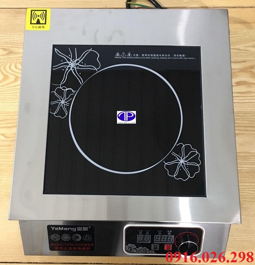 Mặt bếp từ công nghiệp mặt phẳng công suất 5500w