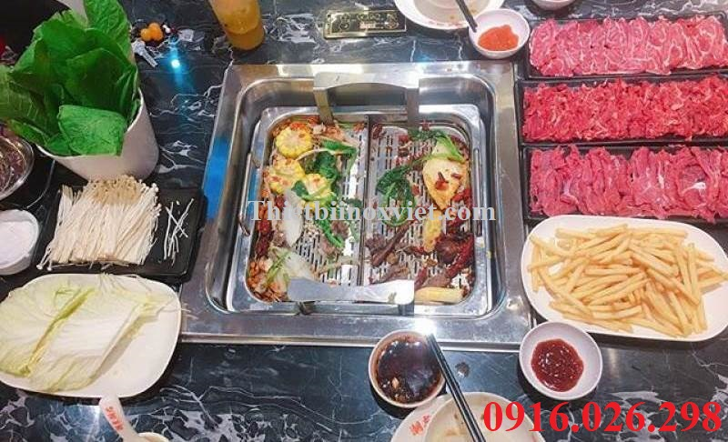 Ảnh thực tế bếp lẩu thang máy nhà hàng tại Hà Nội