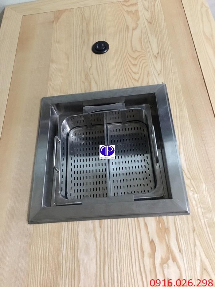 Bếp lẩu thang máy khi lắp trên mặt bàn
