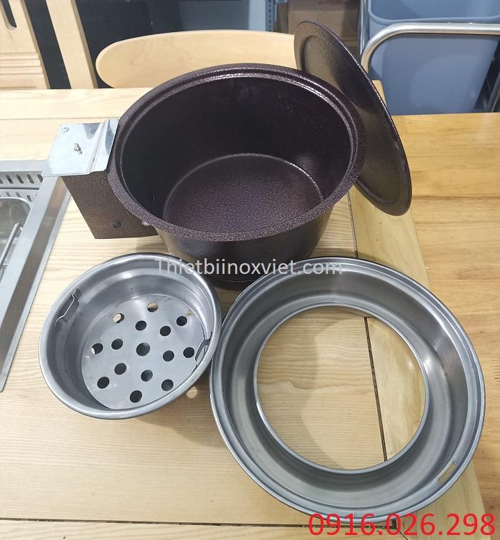 Các thành phần bếp nướng than hoa âm bàn hút dương
