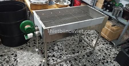 Bếp nướng than hoa ngoài trời hình chữ nhật có quạt