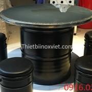 Cung cấp bàn ăn thùng phuy giá rẻ