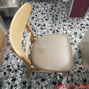 Ghế gỗ mặt nệm nhà hàng lẩu nướng