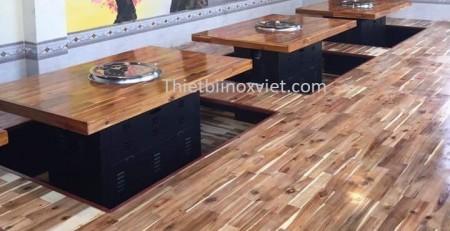 Cung cấp bàn ăn mặt gỗ nhà hàng
