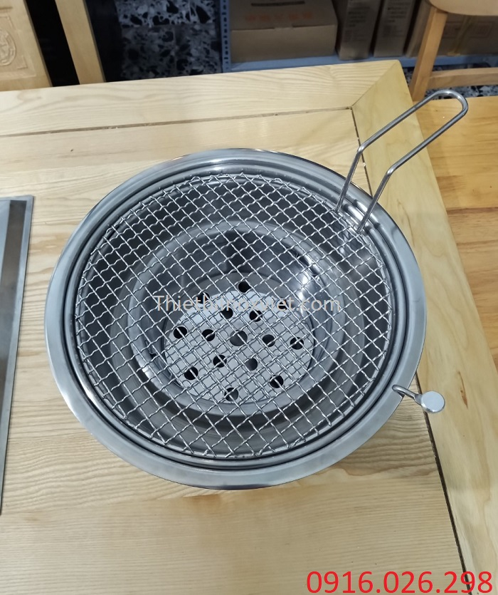 Bếp nướng than hoa âm bàn hút dương
