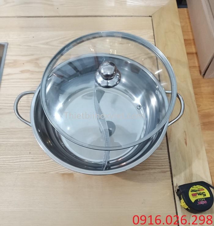 Cung cấp bếp lẩu inox hai ngăn tròn