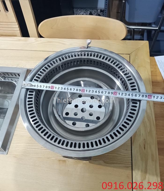 Kích thước mặt bếp nướng âm bàn nhà hàng