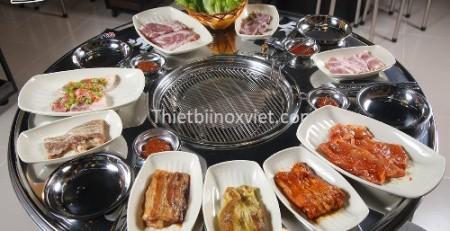 Bàn ăn thùng phuy inox cho nhà hàng giá rẻ